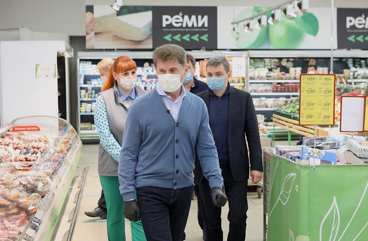 Олег Кожемяко проверил торговые предприятия Уссурийска